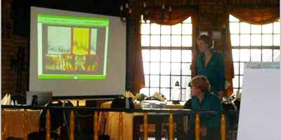 20.03.2010 Eyes on Animals gives a workshop on improving animal welfare to livestock drivers from the Dutch/German company Keus en Mollink