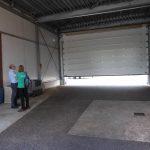 Hendriksen has installed a rolling-door
