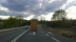 Hefter truck on the road