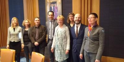 17.02.2016 Treffen mit dem niederländischen Landwirtschaftsminister Van Dam
