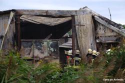 Destroyed barn