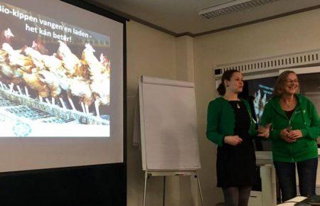 18.01.2017 EonA hält einen Vortrag auf der Messe für biologische Lebensmittel in Zwolle, NL