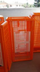 Large crates with access doors