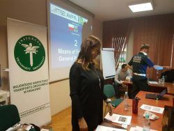 Theory training of Polish official road inspectors