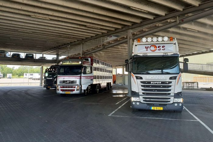 Ruimte onder parkeergarage van Rooi